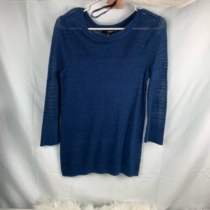 Navy blue women's top